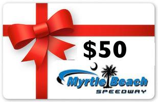 $50 Myrtle beach speedway gift card